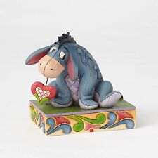 New JIM SHORE DISNEY Figurine EEYORE DONKEY HEART Quilted Statue Folk Art POOH