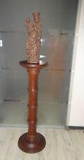 Alter Blumenständer * Blumensäule * Holzsäule * Holz * 92cm