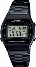 NEW CASIO RETRO NISEX BLACK IP DIGITAL ALARM CLASSIC WATCHB640WB-1ER RRP £79
