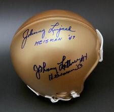 Johnny Lattner Johnny Lujack SIGNED Notre Dame Mini Helmet PSA/DNA AUTOGRAPHED