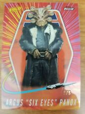 """2018 Topps Star Wars Finest Solo Argus """"Six Eyes"""" Panox Red Refractor #d 5/5"""