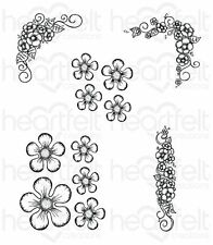 Heartfelt Creations: Berry Blossoms Cling Stamp Set (HCPC-3731)