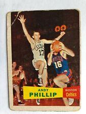 New listing ANDY PHILLIPS/boston CELTICS  vs TOM MARSHALL - 1957-58  TOPPS  basketball card