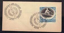 1956 Poland Poczta Polska Warszawa Olimpliskiej Olympic FDC #2