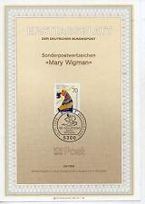 Alemania Federal Hoja Primer día Mary Wigman del año 1986 (CU-886)