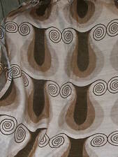 SINGLE VINTAGE CURTAIN brown fawn coffee heavy HEAVY ROBUST curtain from 1960's