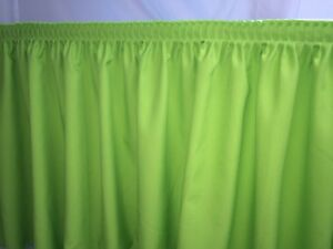 21' POLYESTER PLEATED TABLE Set SKIRT skirting Trade show Apple Green catering