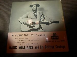 HANK  WILLIAMS EP : I SAW THE LIGHT (NO.2)