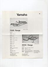 VINTAGE YAMAHA MOTORCYCLE ADVERT / LEAFLET 1973 - CARRIERS 7000 & 8000 RANGE