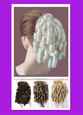 NEW DANCE RINGLET TIE IN PONYTAIL HAIR PIECE EXTENSION multi colors