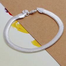 Hot Wholesale New Fashion 6mm Sterling Silver Women's Bracelet For Gift NB134