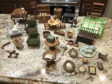 Vintage Wooden Doll House Furniture And Accessories