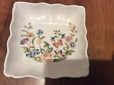 """An Aynsley china small floral dish roughly 4"""" square, 1"""" High"""