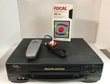 PHILIPS MAGNAVOX VRX462 Hi-Fi VCR plus 4 Head Video Cassette Recorder Bundle