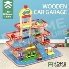 4 Levels Colourful Wooden Car Garage Toy Car Park Car Ramp Car Parking Playset