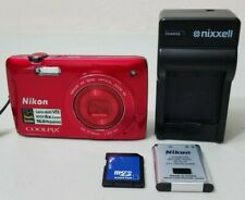 Nikon COOLPIX S4300 16.0MP Touchscreen Digital Camera - Red *VERY GOOD*