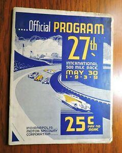 Indy 500 Program 1939