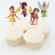 24pcs Tinker Bell Fairy Cute Cupcake Toppers Cake Decor Girl Kids Birthday Party
