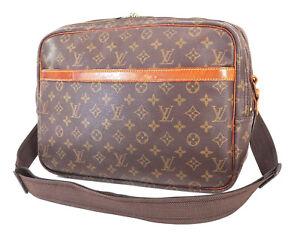 Auth LOUIS VUITTON Reporter GM Monogram Cross Body Shoulder Bag Purse #39318