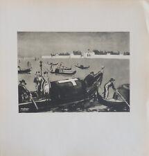 Yves BRAYER (1907-90) Lithographie 1948 Venise Nl Ecole de Paris Jeune Peinture