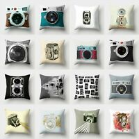 Camera Waist Sofa Cover 18'' Home Case Cushion Pillow Polyester Decor Throw