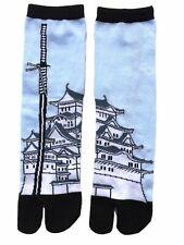 Nagomi Japanese Sword & Castle Split Toe Tabi Socks, Free Size