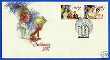 AUSTRALIA, CHRISTMAS 1987, FDC, YEAR 1987