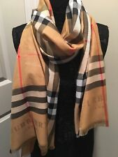 100% new plaid check 100% Cashmere scarf Made In Scotland