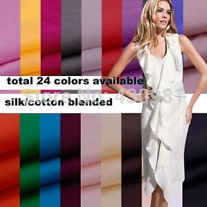 silk/cotton fabric white silk material for dress silk cotton lining