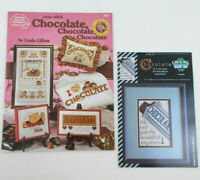 Lot of CROSS STITCH - CHOCOLATE CANDY 1 Pattern Book & 1 Leaflet