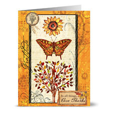 24 Note Cards - Gratitude Butterfly - Kraft Envs