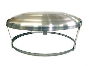 CHIMNEY POT CAP COWL UK MADE FOR CAPPING OFF UNUSED CHIMNEY POTS STRAP FIX
