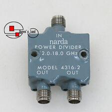 1× Narda 4316-2 12-18GHz SMA 30W RF Octave Band 2-Way Power Divider Splitter