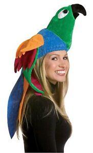 Deluxe Parrot Hat Costume Halloween Hat Tropical Bird Jimmy Buffet Parrot Head
