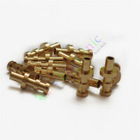 50pc copper plated Gold Turret Lug for 3MM Fiberglass Terminal Tag Board Audio