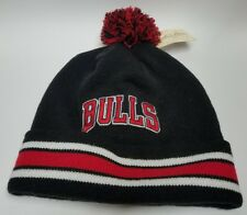 New NBA Chicago Bulls  Mitchell and Ness Black Cuffed with Pom Beanie Hat