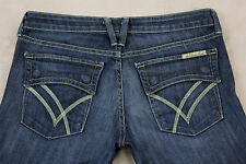 William Rast Belle Flare Size 28 Dark Wash Flap Pocket Stretch Jeans Inseam 34
