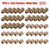 50pcs 3/16'' Copper Brake Pipe Fittings Male Female Metric Union Nuts M10x1mm
