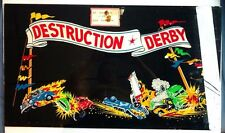 1975 Exidy Destruction Derby ORIGINAL vintage arcade game marquee