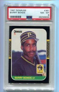 1987 Donruss Barry Bonds RC #361 PSA 8 NM-MT