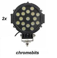 2pcs 12V 24V 51W LED Work Light Spot Beam Lamp Forklift Tracktor Backhoe Hackhoe