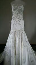 NWT $900 PRINCESS  FOR A DAY *Ivory  Wedding Dress Mermaid Sweetheart Chapel 4 S