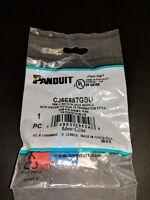 QTY 5 Panduit CJ5E88TGBU Cat5e Mini-Com Jack Blue