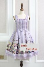 Trendy Kawaii Princess Cute Sweet Dolly Gothic Lolita Floral Sleeveless Dress
