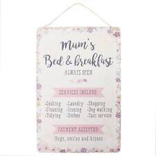 Mum's Bed & Breakfast -  Shabby Chic Metal Wall Hanging Sign
