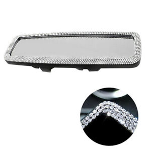 Bling Crystal Car Decor Rear View Mirror Wide-angle Lens Mirror Driving Safety