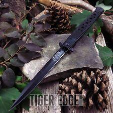 """SPRING-ASSIST FOLDING POCKET KNIFE   Tac-Force Black Large 12.5"""" Stiletto Blade"""