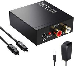 Adattatore Audio Digitale ad Analogico, Coassiale Ottico a RCA L/R