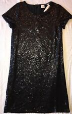 Gap Kids Dress 6 7 Black Sequin Shift NWT $69 NEW!