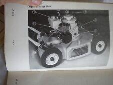 Vintage tondeuse à gazon moteur BERNARD MOTEURS ESSENCE BM.11-BM.2 Owners Manual 1960 S